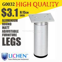 Height 15cm Legs Round Aluminium alloy adjustable Furniture Legs&Cabinet Legs(4 pieces/lot) LICHEN SOFA FEET