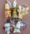 M'lele 5 Sets of 25pc Cartoon Moomin Valley Snufkin Floren Hippo Figure Strap,free shipping(China (Mainland))