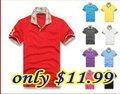 9 colors Summer men T-shirt Embroidery B LOGO mens Tartan collar polo t shirt