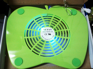 Green big for apple laptop computer radiator super fan silent cooling pad cooling base(China (Mainland))