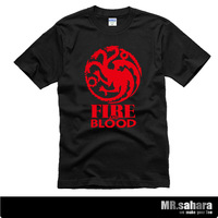 Plus size A Song of Ice and Fire A Game of Thrones Originality design cool House Targaryen Short sleeves T shirt tee