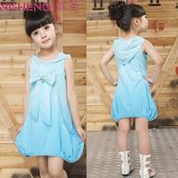 Female child summer one-piece dress 2013 summer girls clothing princess dress child