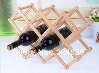 Free shipping Wood folding wine racks