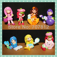 Cute strawberry shortcake  Cartoon Figure Toys 7pcs/set ePacket  free shipping action figure