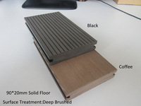 Waterproof ,low maintenance outdoor wood plastic composite/wpc decking with deep brushed