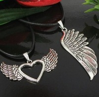 Lovely 10pcs Mixed Models Angel Wings Alloy  Charms  Pendants For Jewelry Making DIY Metal Jewelry  M1219