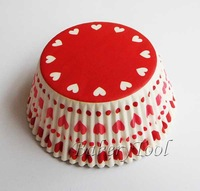 On Promotion 100 pcs Heart Wedding Cake Cup Cupcake case cupcake liner paper baking cup muffin case Cake packing wrapper