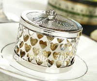 Free Shipping 50pcs/lot Silver Plated Round-Shaped Box Favor /Wedding Gifts Packing/Wedding Favors