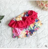 149-64 New summer boy pants wholesale 4sets/lot  2013 Chiffon girls shorts  Big bow ladies shorts girl's summer wear
