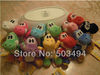 "20pcs Soft Plush Super Mario Bros Yoshi Plush Anime 4"" Keychain yoshi keychain phone chain plush 12 colors 20pcs/lot(China (Mainland))"
