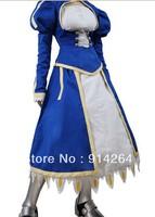 Fate Stay Night Fate Zero Saber Swordsman Dress Cosplay Costume   free shipping