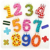 WHOLESALE fridge magnet Children's Educational toy Gift Kid's Wooden Stickers 15pcs one pack 1500pcs/lot promotional
