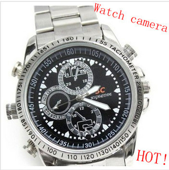 Free shipping ,4GB hidden camera watch cam Dvr wrist watch Waterproof Hd with retail gift box