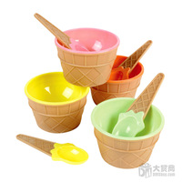 Free Shipping 12pcs/lot  Plastic Ice Cream Bowls