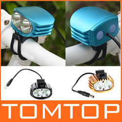 New! Outdoor 3 colors 2000LM 2 CREE XML-T6 LED Bicycle Headlight Headlamp 8.4V 4400mah Battery Pack 4 Modes Bike front light(China (Mainland))