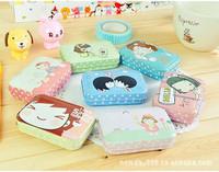 Free shipping, mini storage box tin candy box,Fancy mini floral tin box,16pcs/lot