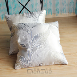 Jacquard pillow cover vehienlar square pillow cushion luxury petty bourgeoisie pillow filling(China (Mainland))