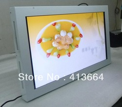 DHL FREE SHIPPING!! 55 inch Large Size TFT HD LCD Display Wall-mounted Screen Digital Signage Solutions Video Audio Input(China (Mainland))