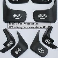Free shipping/Car Mudguards/High quality Original car Mudguards for BYD F0 F3 G3 L3 F6 su rui(5A)/one set 4pcs/Wholesale+Retail