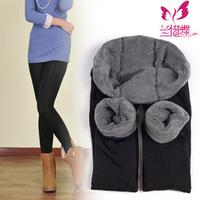 2012 autumn and winter double elastic bamboo pearl velvet female ankle length legging warm pants