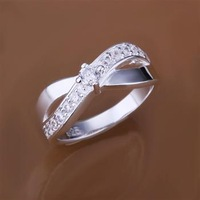 L-CR162 wholesale Free shipping+ Sterling 925 silver The hottest selling Ring heart-shaped 925 silver nice fashion