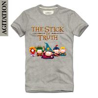 Agitation 2013 100% short-sleeve cotton round neck T-shirt cartoon