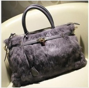 2013 fashion handbag luxurious fur rex rabbit hair fur small lock one shoulder jelly candy bags(China (Mainland))
