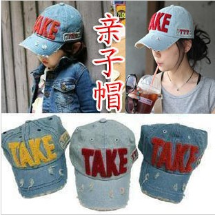 Four seasons hot-selling children hat embroidery water wash baseball cap