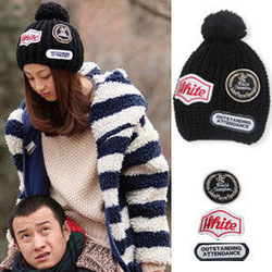 NEW fashion sexy lady 5 fashion yarn knitted hat female winter ball cap 105g(China (Mainland))