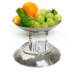 Derlook c013 retractable stainless steel folding steam tray multi-purpose steamer tray magic wheel Special Wholesale(China (Mainland))