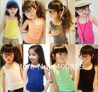Classic models summer  vest children camisole,candy multi color vest,girl's cotton sun-tops girl's tank top
