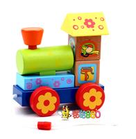 Child puzzle wooden assembling toys geometric figure