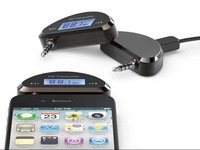 Wireless LCD FM Transmitter for iPhone5 4S, 3.5mm Jack for iPod/ iPad/ Smart Phone/ HTC /Samsung+ Freeshipping