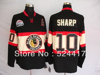 Free shipping Chicago Blackhawks #10 Patrick Sharp  Winter classic Jersey , Embroidery Logoes, Mix order