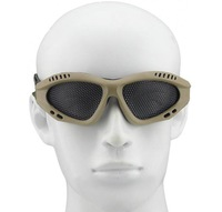 Metal Mesh Goggles Round Holes, Flexible TPR Airsoft Outdoor Sport Glasses, Net CS Game Protective Tactical Military Eyewear
