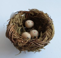 2013 classic bird nest grass bird house for children toy and home decoration