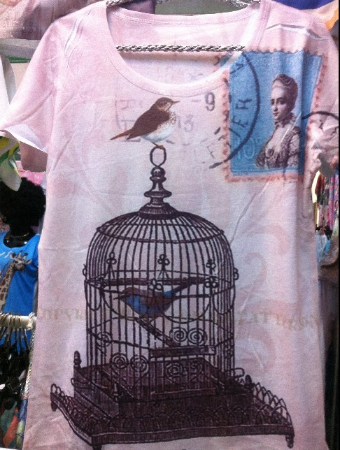 Women fashion summer bird cage top Harajuku Track Ship + New Vintage Retro Rock&Roll Punk tank giraffe printing Tee cc1(China (Mainland))