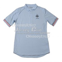 Free shipping 100% Polyester 2013 14 Thailand quality France football shirts away white soccer jerseys