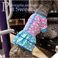 Cute clouds skirt cake skirt princess mounted single girls dress pet clothes dog clothes Teddy Bichon puppy