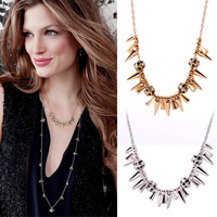 Min order $10 Fashion accessories the trend of punk rivet short design necklace female Factory Wholesale