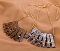 Fashion fashion accessories vintage smd fanghaped short design necklace Factory Wholesale