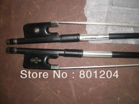 2PCs of 4/4 Cello Carbon fiber bow(one is with flower inlay ebony frog, and the other is without flower inplay)