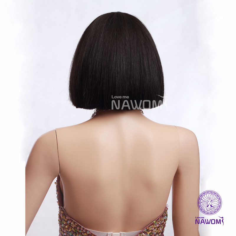 women black hair wigs chinese bob wigs synthtic real looking wigs for women B3770(China (Mainland))
