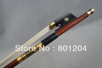 Wholesale Advanced 4/4 Cello bow  with pernambuco bow stick (Gold color) copper amounted