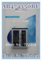 Original AB474350BU Mobile Phone Battery for Samsung G810 i550 i8510 D780 Free Tracking