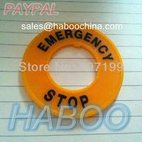 30mm e-stop emergency stop push button switch panel label frame plastic sign, inner diameter 30mm,external diameter 60mm