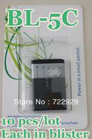 Original BL-5C Mobile Phone Battery for Nokia N70 N71 N72 N91 6085 6086 1112 2300 3660 6085 6230 Free Tracking