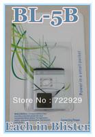 Original BL-5B Cellphone Battery for Nokia 3220 2366i 5300 6061 N80 N90 3230 5140i 5300 6020 6021 5070 Free Tracking