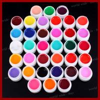 Yevita Free shipping 36 Pcs Mix Pure Colors Soak UV Gel/ Nail Art Tips UV Builder Gel Set