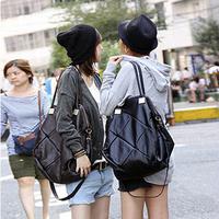 Free shipping Women's handbag 2013reminisced patchwork big plaid shoulder bag messenger bag women's handbag
